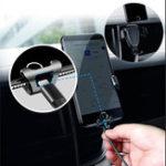 Оригинал Gravity Linkage Авто Air Vent Держатель телефона Поворотный кронштейн на 360 ° Универсальный для iPhone XS XR X