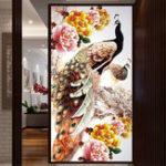 Оригинал DIY5DАлмазВышивкаУкрашенияАлмазная Мозаика Павлин Круглый Комплекты Алмазной Живописи Вышивки Крестом Home Decor