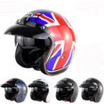Оригинал мотоцикл Скутер Летняя половина лица ретро шлем для Harley с анти-УФ-очки