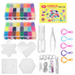 Оригинал 8400 Шт. Предохранитель Воды Липкие Бусины Perler 2 Сетки Pegboards DIY Art Craft Игрушки Для Детей