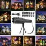 Оригинал 12ШаблонСнаружиLEDПроекторСвет Атмосфера Свет Пейзаж Лазер Лампа Подарок на Хэллоуин для детей