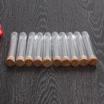 Оригинал 10 Шт. 18 * 100 мм Пластиковое Стекло Тест Трубка С Пробкой Медицинская Лабораторные Принадлежности