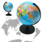 Оригинал 25см Вращающийся Мир Глобус Земли Атлас Карта География Образование Рождественский Подарок