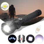Оригинал XANES 1285 Масштабируемая перезаряжаемая USB LED Фонарик XHP50 Подсветка телескопической горелки 18650 26650