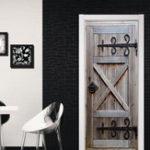 Оригинал 3D Ретро Старая Дверь Настенная Роспись Стикера Стены Винила Съемный Наклейка Обои Home Room Decor