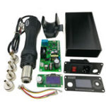 Оригинал 1,3-дюймовый экран KSGER DIY 858D Горячий воздух Нагреватель Паяльная станция STM32 OLED-регулятор температуры 4шт Держатель форсунок Металлический с