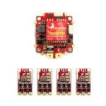 Оригинал HGLRC F4 V6 PRO Контроллер полета 5.8G 48CH VTX + 4 шт. T-Rex 35AMP BLHeli_32 3-6S ESC для RC Дрон