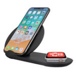 Оригинал 2 в 1 Qi Беспроводное зарядное устройство Телефон Зарядное устройство Часы Зарядное устройство для iPhone / Samsung/Apple Watch серии