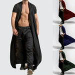 Оригинал Mens Casual Comfy Loose Long Cardigans Coat