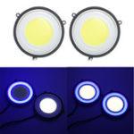 Оригинал 3.5 дюймов Круглый COB LED Дневные ходовые огни Авто Поворотный противотуманный фара Лампа 6.5W 1200LM Dual Color