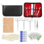 Оригинал 25 в 1 Медицинская Skin Suture Surgical Training Набор Силиконовый Подушечные игольчатые ножницы