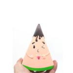 Оригинал Fruit Squishy Watermelon Man 13.5CM Смешное выражение Jumbo Медленно растущий отскок Игрушки с упаковкой
