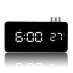 Оригинал Ручка зеркала Alarm Часы Личность Creative Термометр Прикроватная кровать Часы LED Светящаяся Студентка Часы