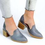 Оригинал US Size 5-11 Chunky Heel Pumps Casual Slip On Shoes