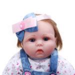 Оригинал Oubeier 55 СМ Ручной Силиконовый Reborn Girl Body Lovely Ткань Кукла Виниловые Игрушки Детям Подарок