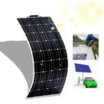 Оригинал Гибкая монокристаллическая панель ETFE Солнечная 18V 100W Гибкая монокристаллическая панель Солнечная ETFE