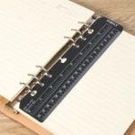 Оригинал Frosted Loose Лист Flushbonading Закладка с Hraduated Шкала Черный Для Студенческих Ноутбуков Канцтовары