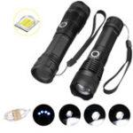 Оригинал XANES 1287 Suit Zoomable Tactical LED Фонарик XHP50 Подсветка с 18650 USB-кабелем Фонарик Набор телескопический факел