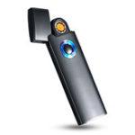 Оригинал  KCASAAT-02MiniSuperThinCool Электрическая зажигалка USB зарядка от LED цветful фонари