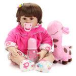 """Оригинал  NPK Кукла 22 """" Reborn Силиконовый Handmade Lifelike Реалистичная новорожденная детская игрушка для девочек"""