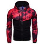 Оригинал Mens Camouflage Hooded Drawstring Casual Sweatshirt