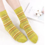 Оригинал Women Cotton Ethnic Style Low Cut Sock Athletic Boat Socks