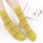 Оригинал Women Cotton Ethnic Style Low Cut Sock Athletic Boat Socks