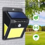 Оригинал Солнечная Powered 60 LED PIR Motion Датчик Настенный светильник безопасности Сад На открытом воздухе Лампа