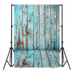 Оригинал 5x7FT винил синий деревянный настенный пол фотография фон фон студия опора