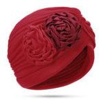 Оригинал Женское Полиэстер этнический цветочный тюрбан Шапка Chemo Caps
