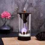 Оригинал 7 цвет LED смена ладана горелки обратный поток водопад курильница держатель с конусами