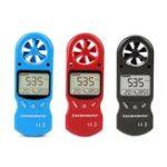 Оригинал KT-300МиниМногофункциональныйанемометрЦифровойанемометр LCD Скорость ветра Влажность воздуха 3 в 1 Измеритель скорости ветр