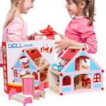 Оригинал Деревянный Нежный Кукольный Домик Со Всей Мебелью Миниатюрные Игрушки Для Детей