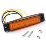 Оригинал LED Боковые габаритные фонари Грузовик Боковой фонарь 9.6см 5-цветный 10шт для джипа Авто Грузовик внедорожник