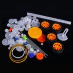Оригинал 78шт пластик Мотор передач Набор DIY набор аксессуаров передач с различными передач и оси Ремень автобус