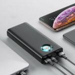 Оригинал Baseus 20000mAh Type C PD Быстрая зарядка + быстрая зарядка 3.0 USB Power Bank для мобильного телефона