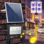 Оригинал Bright Солнечная Powered 192 LED Прожектор безопасности с регулируемой яркостью освещения с контроллером Дистанционный для стены Сад На открытом в