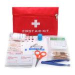 Оригинал Первая помощь в чрезвычайных ситуациях Набор 79 предметов для выживания Сумка для Авто Travel Home Emergency Коробка