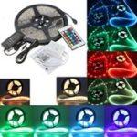 Оригинал DC12V 5M 5050 RGB Waterproof 300 LED Strip Light Kit + 24 Key IR Controller + 5A US Power Supply