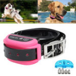 Оригинал Pink Wireless Pet Dog Electronic Fence Rechargeable Containment System Training Collar Neck Line