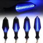Оригинал 2шт Копченый мотоцикл Синий LED Сигнал поворота Лампа Индикаторы последовательного потока