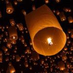 Оригинал 5PCS Blue Love Сердце Kong Ming Sky Фонари Китайский Кайт Традиционный желающий Лампа