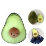 """Оригинал 8 """"/ 10"""" Симпатичные фрукты авокадо Шаблон Фаршированная плюшевая игрушка-подушка Soft Назад Подушка"""