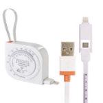 Оригинал AUGIENB 2-в-1 Creative Micro USB Зарядка Кабель для Передачи Данных Расширительная Лента BMI Для IOS Android