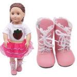 Оригинал Кукла Обувь Для Американской Девочки 18 Дюймов Кружева Ручной Работы Короткие Ботинки Фигурку Платье до Аксессуары Игрушки