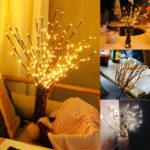 Оригинал LEDВеткаДереваЛампаЦветочныеОгни Партия Home Decor Праздничный Подарок На День Рождения LED Ночной Свет