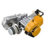 Оригинал 49cc 2-х тактный стартовый старт Двигатель Moto Transfer Коробка CARB Карманный мини-байк для квадроциклов