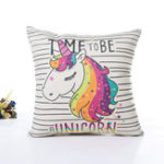Оригинал Unicorn Pillow Case Polyester Home Throw Pillows Soft Decorative Cushion Cover For Sofa Chair Pillow Cover