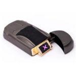 Оригинал IPRee®НаоткрытомвоздухеEDCЭлектронный USB-зажигалка с двойной дугой Ветрозащитный металлический электрический импульсный стартер зажи
