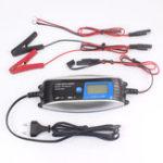 Оригинал FOXSUR 12V 7-ступенчатый мотоцикл LCD Интеллектуальное зарядное устройство Авто Smart Батарея